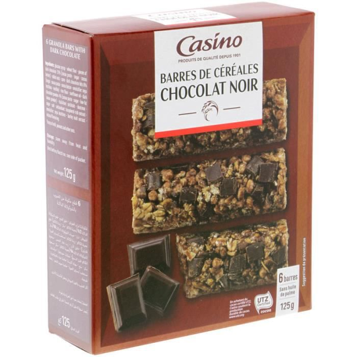 CASINO Barre Chocolaté Noir - 125G