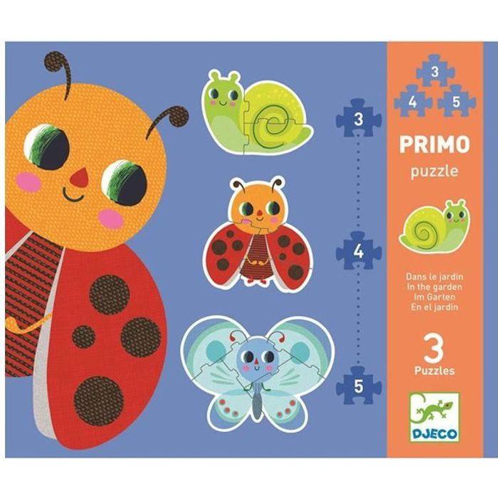 Puzzle bébé 2 ans Djeco Petites bêtes 3 puzzles évolutifs 3, 4 et 5 pièces