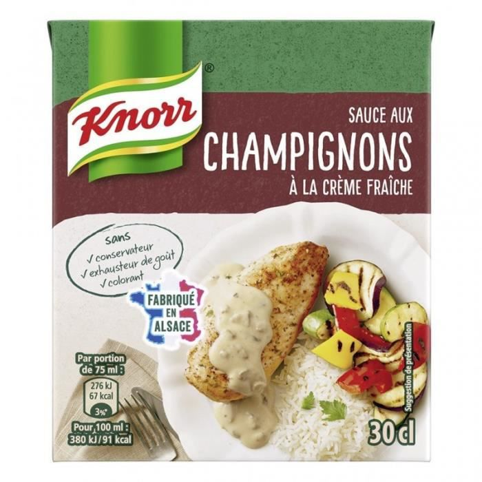 Knorr Sauce aux Champignons à la Crème Fraîche 30cl (lot de 6)
