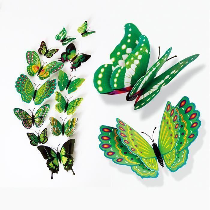 objet décoratif 3D DIY Type Pin Home Décor papillon robe rideau Décore accessoiresWLL80821021GNSAN1725 Ve18730