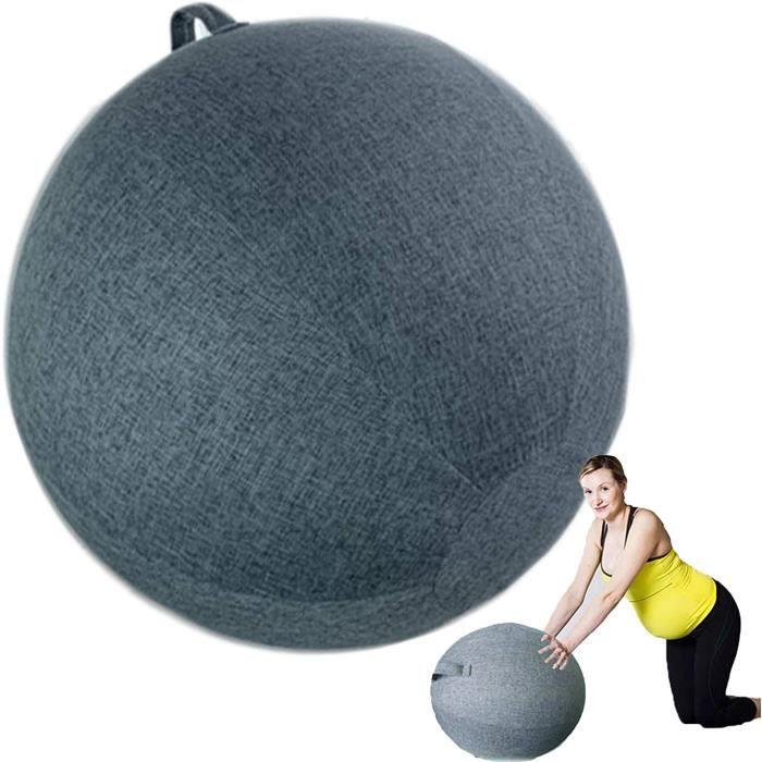 GYM BALL Swiss Ball Grossesse Couvrir Ballon Gym Tissu antid&eacuterapant Ballon Pilate pour Pilates Yoga Chaise Naissance Prot63