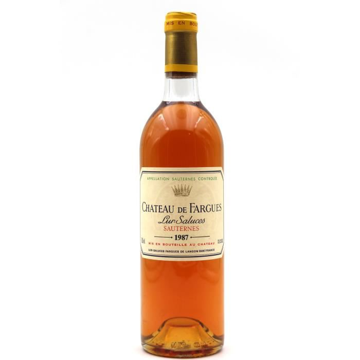 Château de Fargues 1987 Vin Blanc 75cl AOC Sauternes