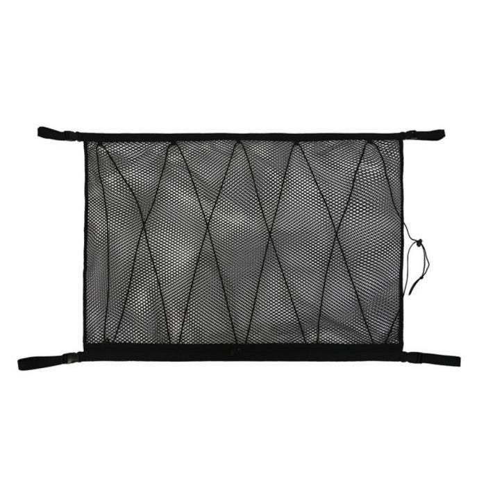 Accessoires auto intérieurs,Filet de rangement en filet pour plafond de voiture, organiseur à filet, poche, toit de - Type Black