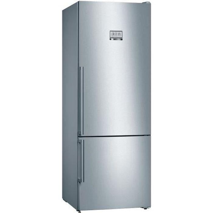 BOSCH KGF56PIDP Réfrigérateur combiné - 480 L (375 L + 105 L)- NoFrost MultiAirflow - A+++ - HxLxP 193 x 70 x 80 cm - Inox