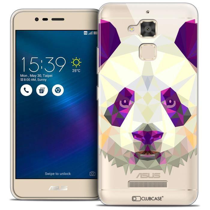 Coque Gel Asus Zenfone 3 Max ZC520TL (5.2 ) Extra Fine Polygon Animals - Panda