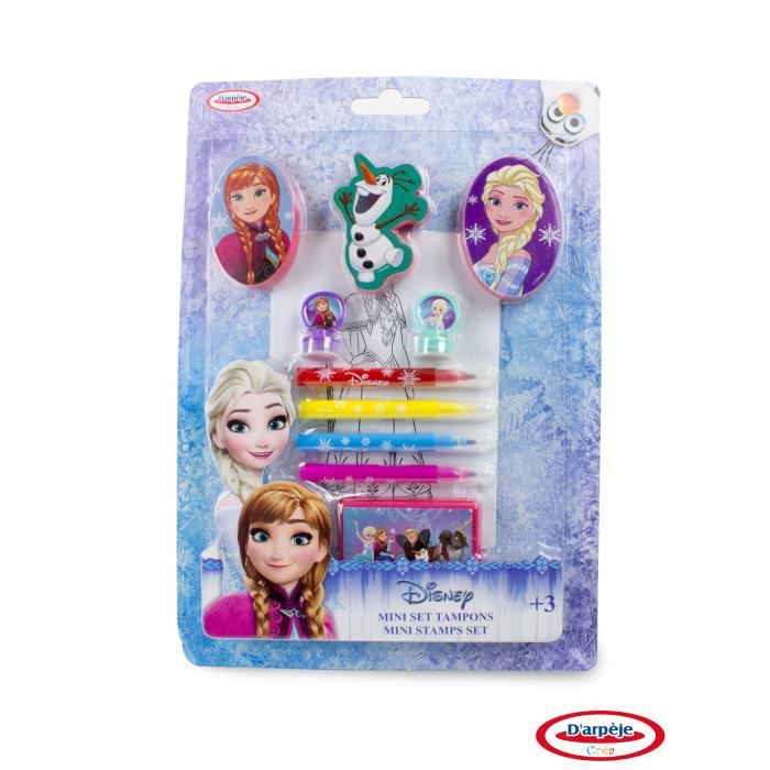 FROZEN - Mini Set Tampons + Coloriage