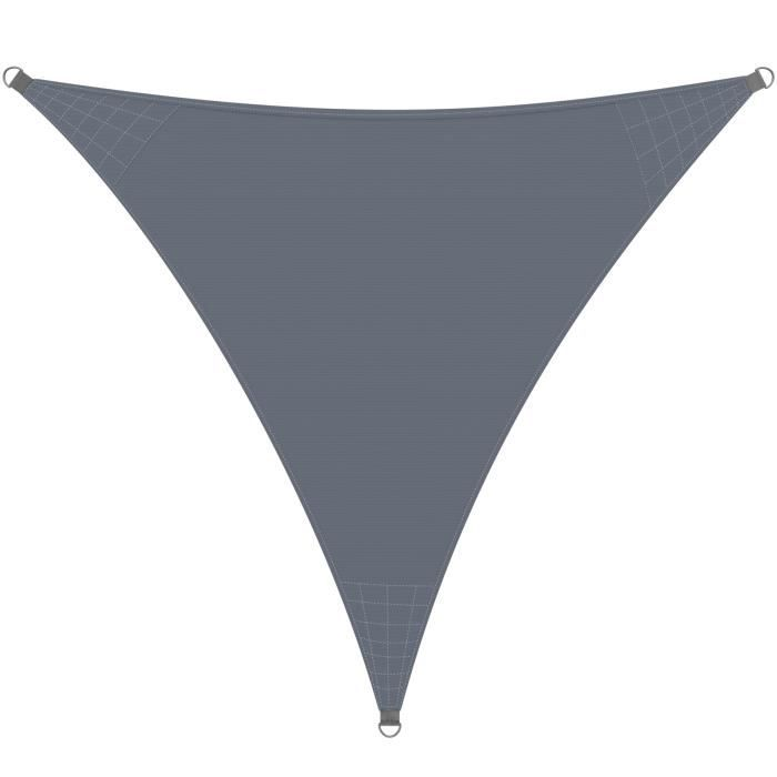 Voile d'ombrage Auvent Oxford Triangulaire 3x3x3m Anthracite Jardin balcon