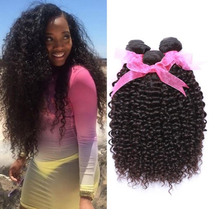 3 piece tissage bresilien kinky curly 100 g-piece cheveux naturel 8 10 12 pouces