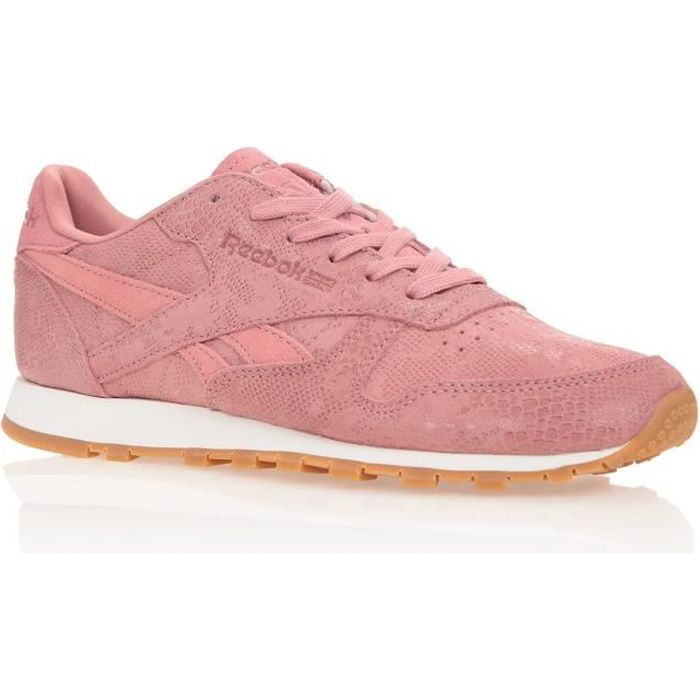 REEBOK Baskets Classic Leather Exotic - Femme - Rose