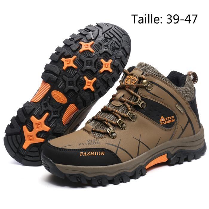 Chaussures Randonnée Homme Imperméable Confort Respirant - Marron
