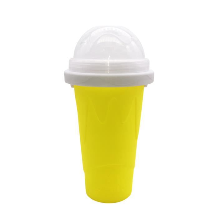 SEAU A GLACONS-(Yellow) Silicone smoothie cup, pinch the cup and quickly cool the cup
