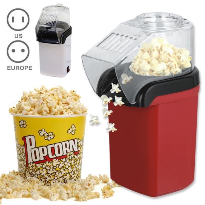 ROKOO Machine à popcorn Electrique 110V - Appareil à pop corn Rouge - Mini machine à pop-corn