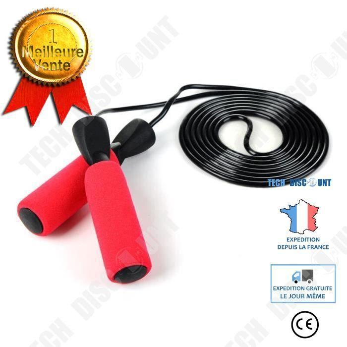 TD® Corde à sauter cordes à sauter enfants Sport exercice vitesse gymnase maison Fitness Modèle: Rouge