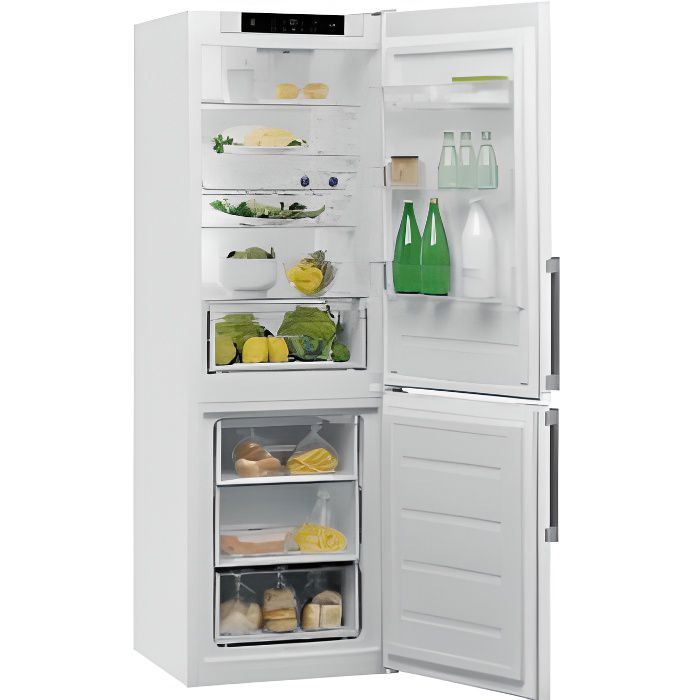 Ref Combiné 339l (228l + 111l), 188,8x59,5x66,3cm, Blanc, A++, Froid Br Whirlpool - W5821cwh