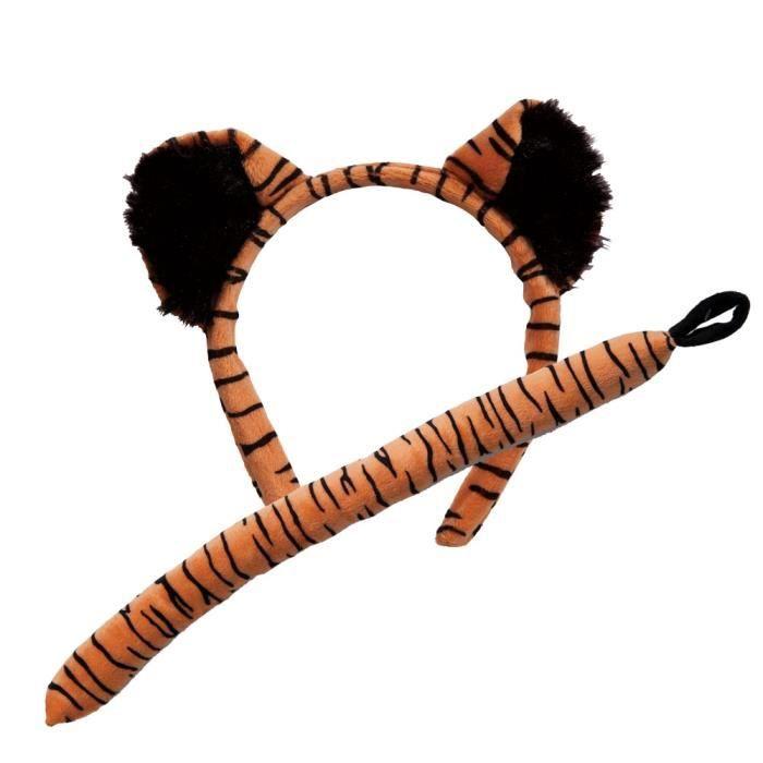 Adulte Tigre Ears & Tail Animal Accessoire Déguisement Set
