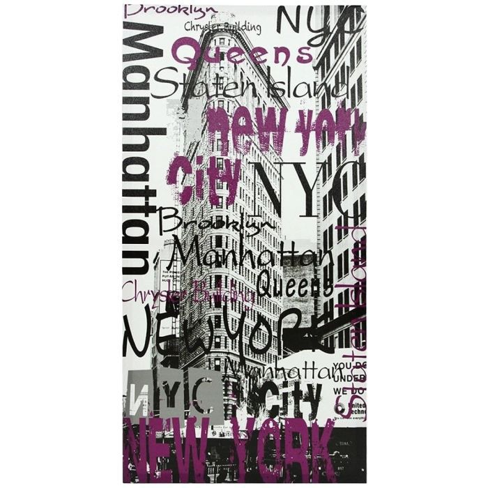 Tableau toile deco new york manhattan building achat for Objet deco new york