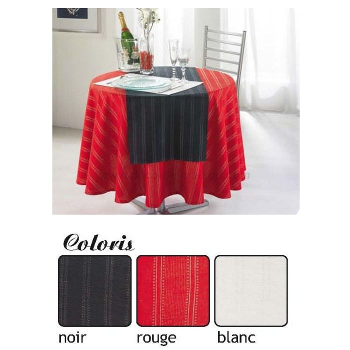 nappe noel et f te chic ronde diam 180 cm rouge achat. Black Bedroom Furniture Sets. Home Design Ideas