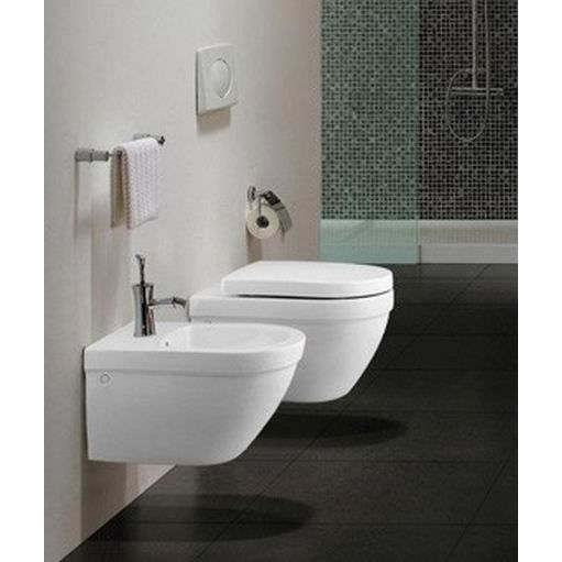 Lot wc et bidet suspendus arrondis blancs achat vente for Wc bidet leroy merlin