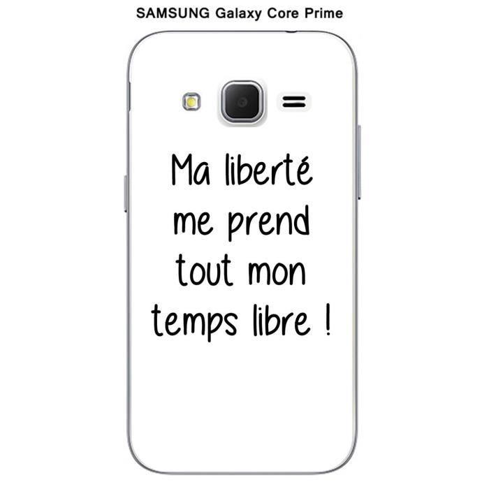 Coque Samsung Galaxy Core Prime Citation Ma libert