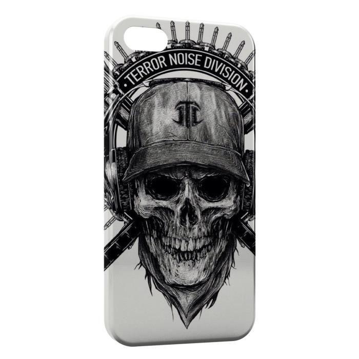 Coque iPhone 5 & 5S Tete de mort Terror - Cdiscount Téléphonie
