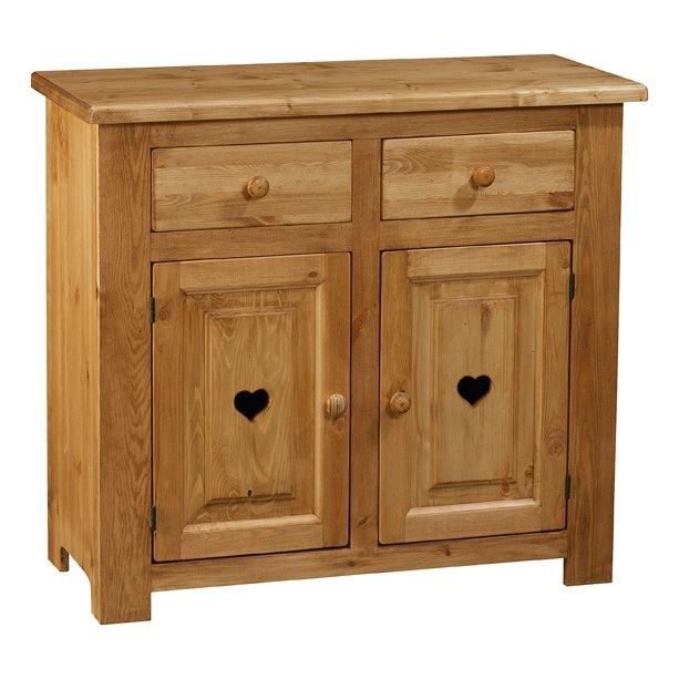 bahut rustique 2 portes 2 tiroirs avec coeur achat vente buffet bahut bahut rustique. Black Bedroom Furniture Sets. Home Design Ideas