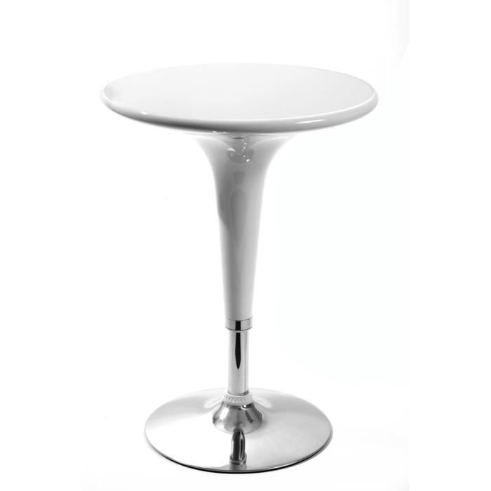 Table haute de bar blanche achat vente table haute de for Achat table bar