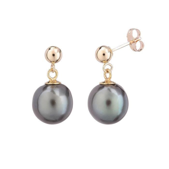 Boucle d'oreille PERLINEA Boucles d'Oreilles Perles de Tahiti et Or