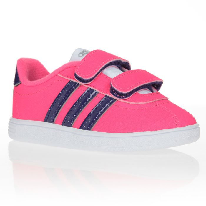 adidas baskets vl court b b fille achat vente basket adidas baskets b b fille soldes d. Black Bedroom Furniture Sets. Home Design Ideas