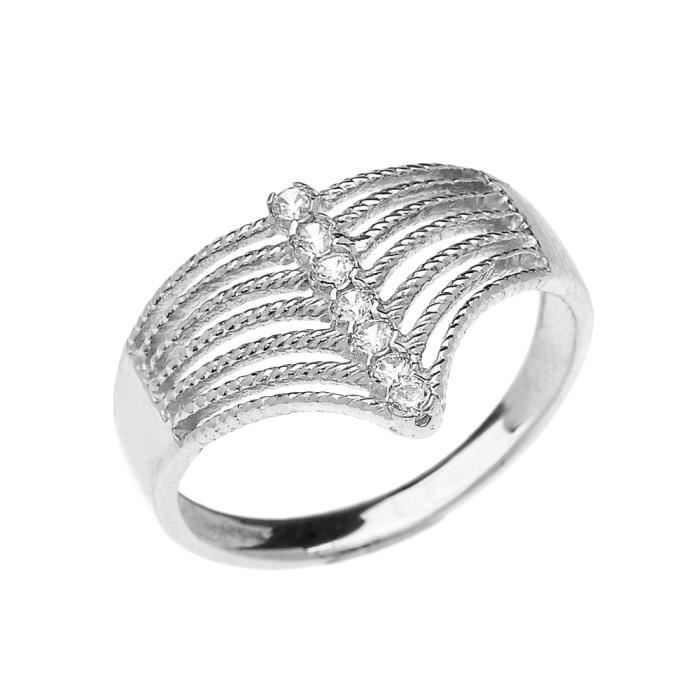 bague or blanc diamant moderne