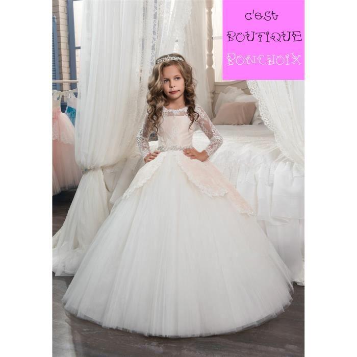 Robe de Cérémonie Mariage Petite Fille Enfant