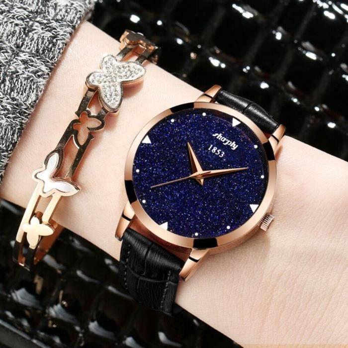 montre femme marque bracelet cuir