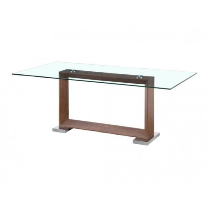 Table manger peyton 8 couverts mdf verr achat for Table a manger 12 couverts