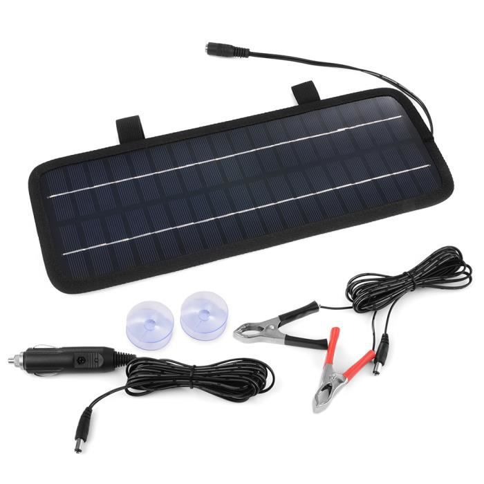 4 5w 12v panneau solaire chargeur de batterie pour voiture. Black Bedroom Furniture Sets. Home Design Ideas