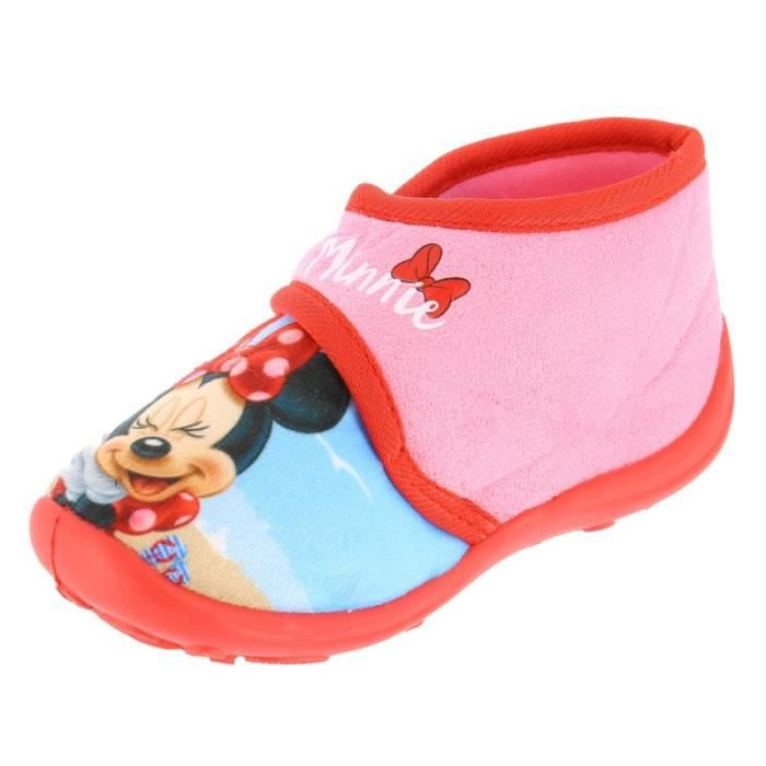 Minnie - Chaussons Minnie avec scratch - (Rose - 24) PI5FmrHmqc