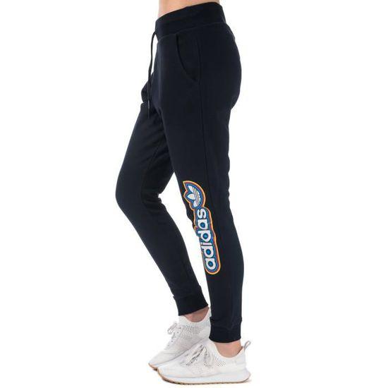 Pantalon de survêtement adidas Originals Baggy pour femme en bleu marine.