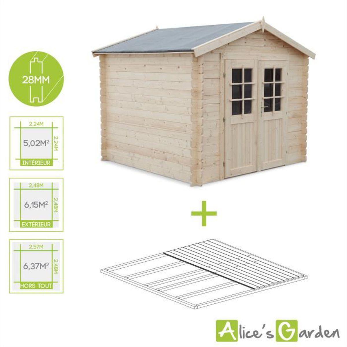 Plan Abri De Jardin En Bois abri de jardin landes en bois fsc de 6,37m² + plancher