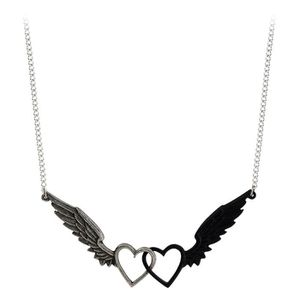 SAUTOIR ET COLLIER Alchemy Gothic Passio: Wings Of Love Pewter Pendan