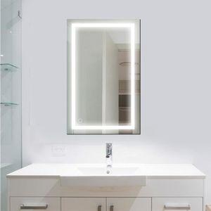MIROIR SALLE DE BAIN 23W Miroir LED Mural Lampe de Miroir Éclairage 100