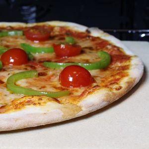 FOUR À PIZZA Amazy Pierre à pizza avec pelle à pizza - Plaque d