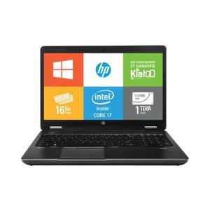 Achat PC Portable Pc portable-HPZBOOK15-intel core i7-16go ram 1 to SSD disque dur-ordinateur portable 15 pouces-w7 pas cher