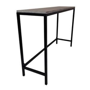 TABLE À MANGER SEULE Table Industrielle Bois Massif et Pied Métal -Tabl