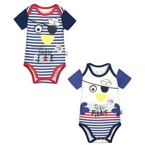 BODY Lot de 2 bodies bébé garçon manches courtes Bébé P