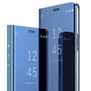 COQUE - BUMPER Coque OnePlus 7T Pro, Etui à Rabat Folio Miroir Sm