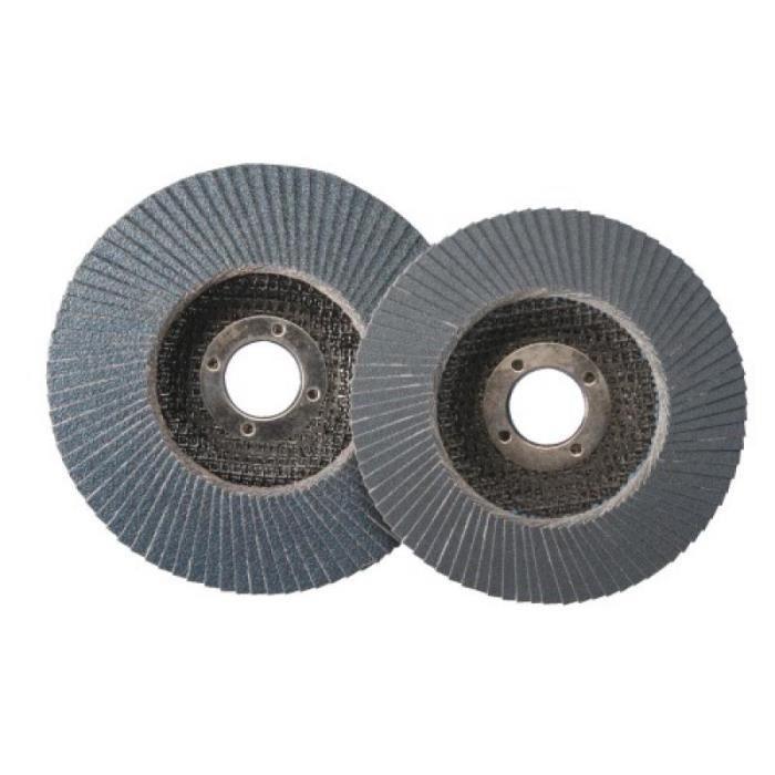 Disques à lamelles 566A plats diamètre 125 mm grain 80 en boîte de 10