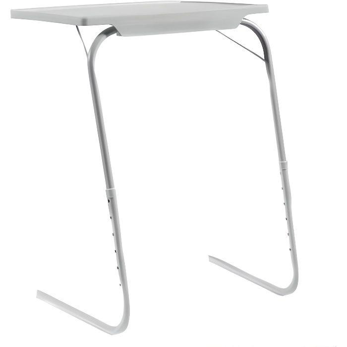 Table pliable -Foldy Table- - 39 x 52 x 70 cm - Plastique - Blanc 70 cm maximum