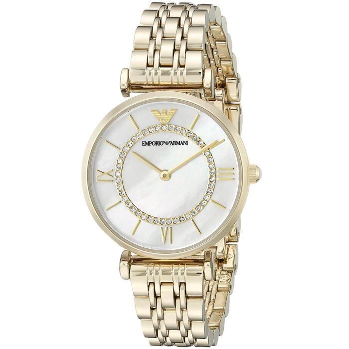 Montre Emporio Armani Femme AR1907 Montre bracelet quartz analogique en acier inoxydable
