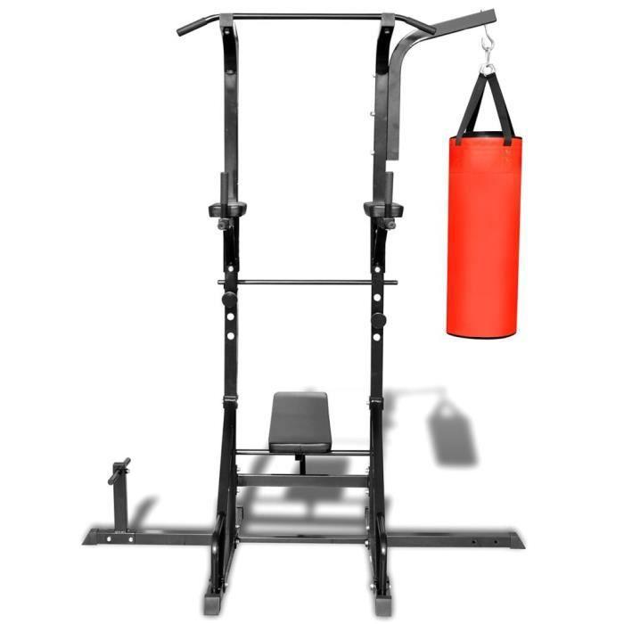 Tour de puissance avec banc et sac de boxe -XNA