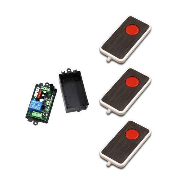 Nouveau AC 220 V 10A Relais 1CH 315 MHz 433 Mhz RF sans fil À Distance Commutateur de Commande À Distance émetteur + Récepteur