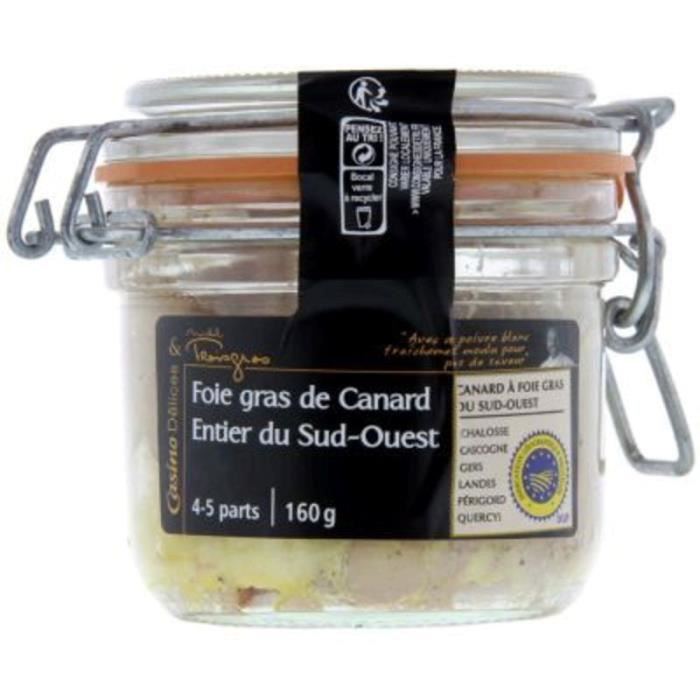 CASINO Foie gras de canard entier du Sud-Ouest - 160 g