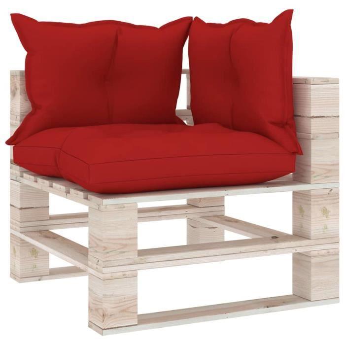 Design&Jolie💟Excellent qualité- Canapé de jardin Meuble de Jardin - Canapé d'angle palette de jardin - Sièges de jardin Banc 7579